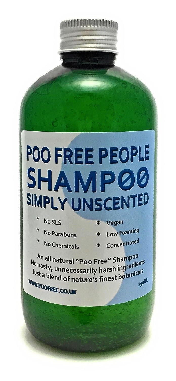 100% NATURALE - SHAMPO - SENZA PROFUMO - 250 ml - di POO FREE - Senza SLS, senza parabeni, senza prodotti chimici, senza conservanti. Un detergente completamente naturale con glicosidi naturali per pulire e condizionare i capelli. Formula a bassa schiuma e