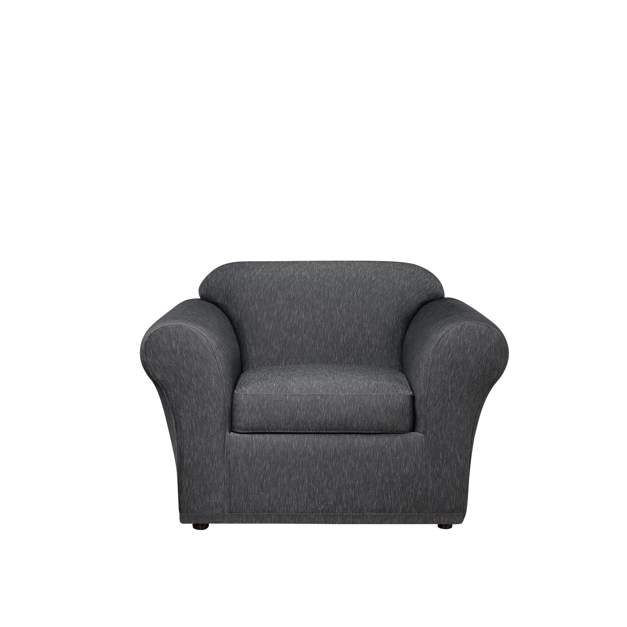 Sure Fit Stretch Denim One Piece Slipcover, Chair, Black
