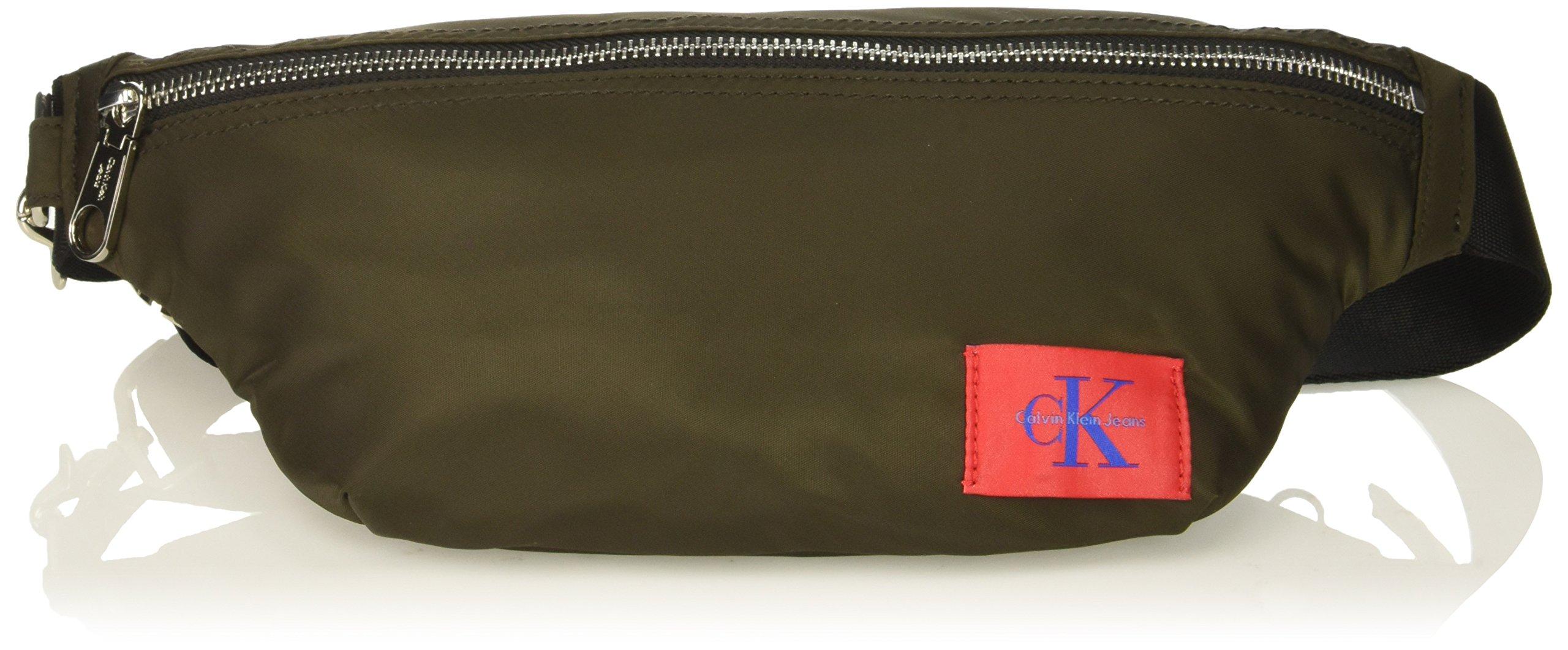 Calvin Klein Men's Zippered Belt Bag with Logo Patch, cargo, NO NO SIZE