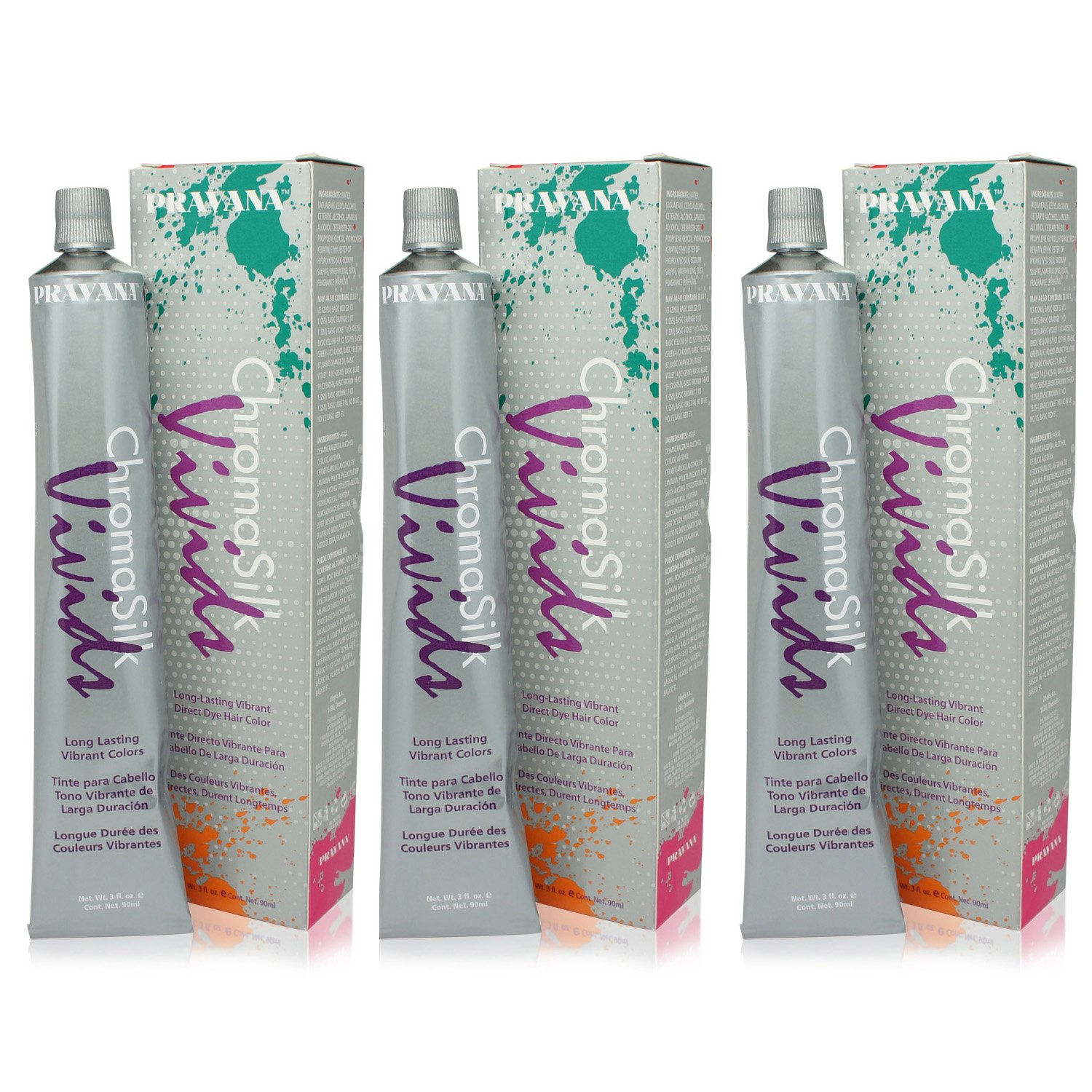 PRAVANA ChromaSilk Vivids Creme Hair Color with Silk & Keratin Protein (Wild Orchids)3 fl Oz-3 pack by Pravana