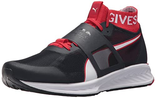 PUMA Mens Bull Racing Mechs Ignite V3 Sneaker, Night Sky White-Chinese red,