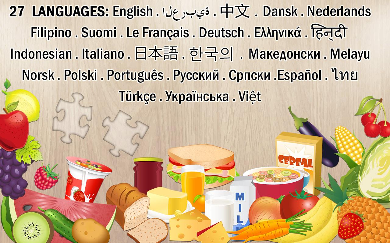 Puzzle de Alimentos para niños - rompecabezas educativo