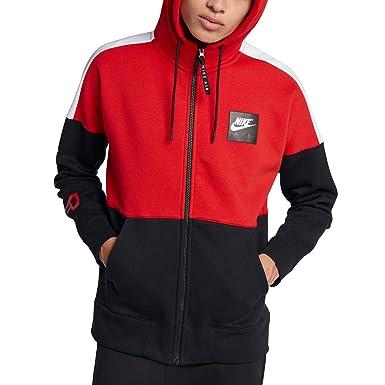 ee771aaf6 NIKE Mens M NSW Hoodie Air FZ FLC 886044-657_L - University Red/White