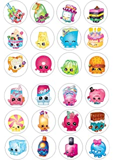 24 Shopkins Cake Toppers 4cm On Wafer Rice Paper