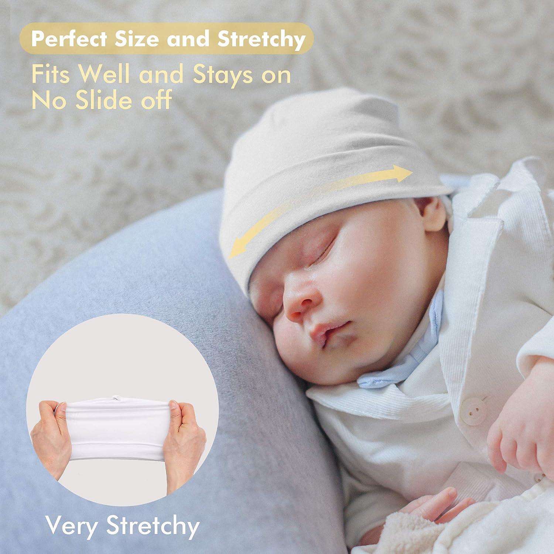 HAPIU Baby Beanie Hat Bamboo Rayon,Soft Knotted Caps,Unisex Newborn Caps