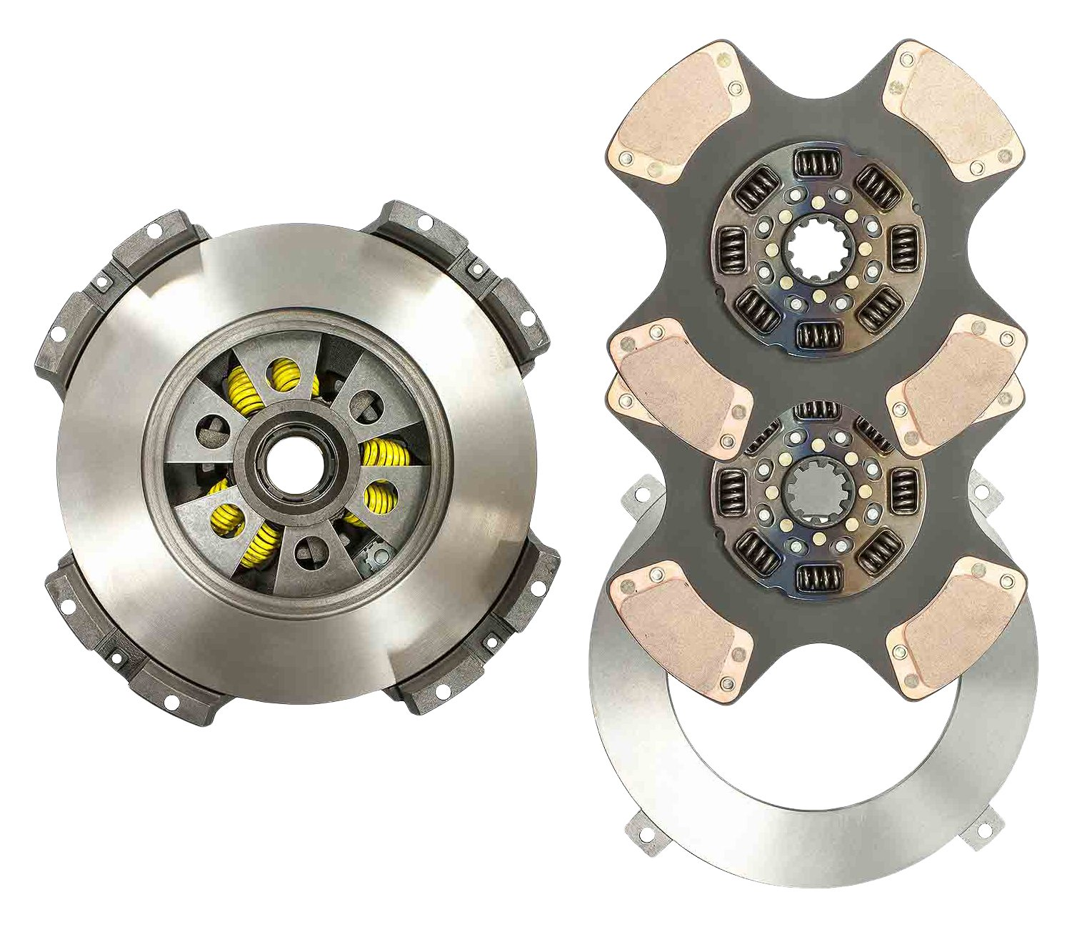 World American WA108391-81BW 15.5'' x 2'' EZ Touch Ceramic Clutch Kit, 4 Paddle, 8 Springs