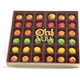 Oh! Nuts Marzipan Candy Fruits, Holiday Marzipans Gift Tray in a Fancy Box, Unique Basket for Women & Men Alike, Send it…