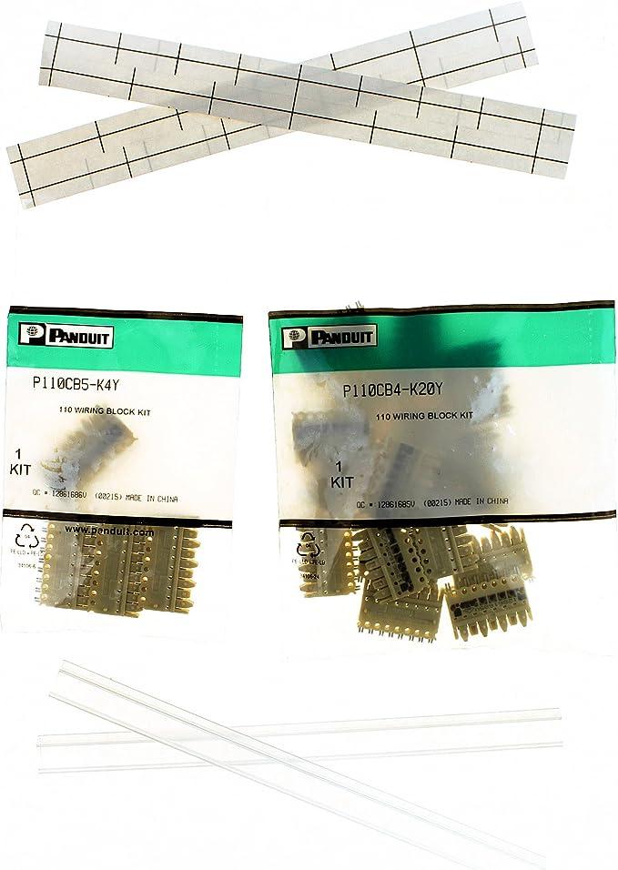 C110 Blocks, Panduit P110CB4-K20Y PAN-NET 110 Wiring Connecting Block Kit Pack of 20