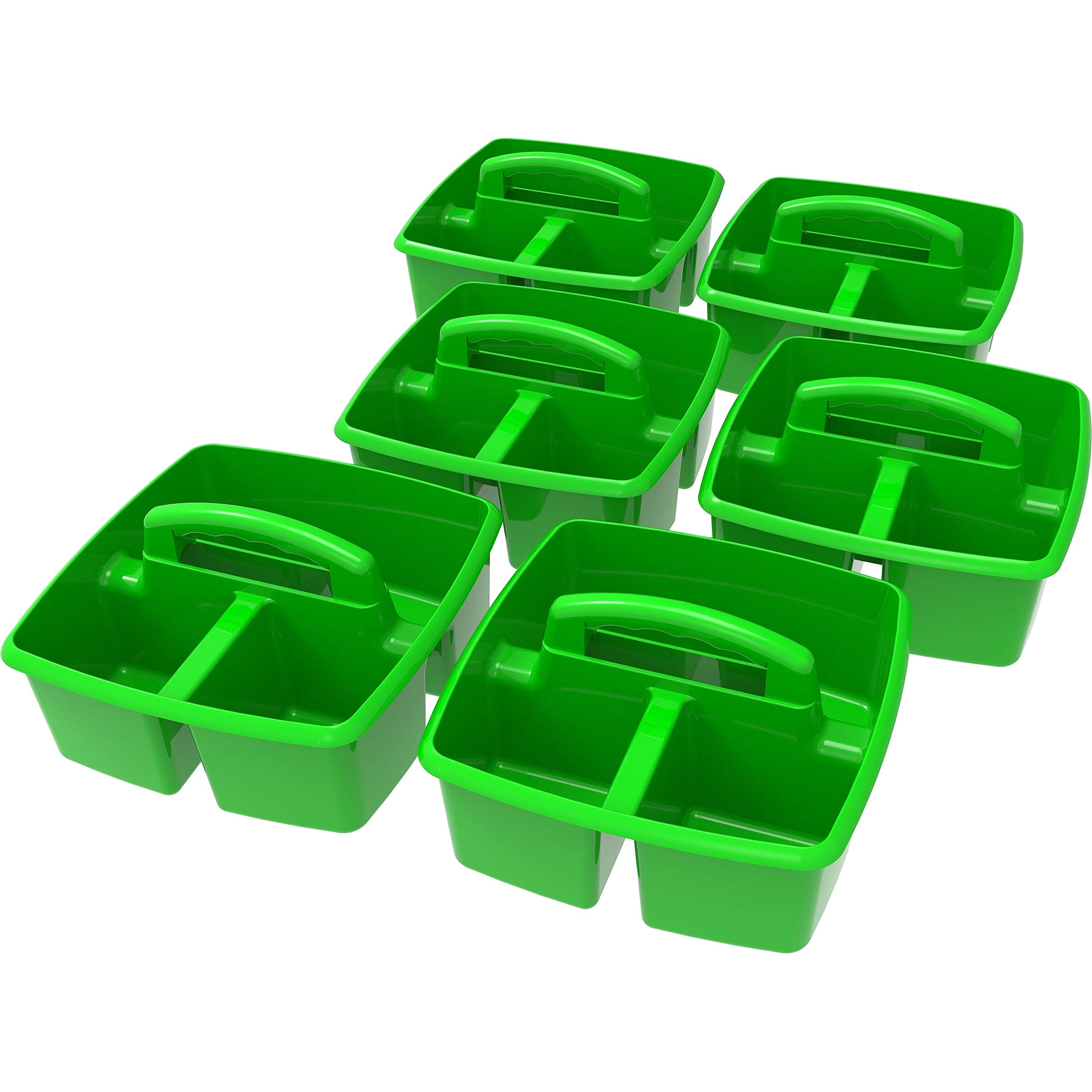 Storex Green Plastic Small Caddy (6 Units/Pack)