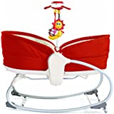 TINY LOVE Baby 3 in 1 Rocker Napper, Red