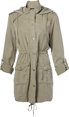 Angie Chaqueta De Lavado Para Mujer Color Verde Militar Clothing