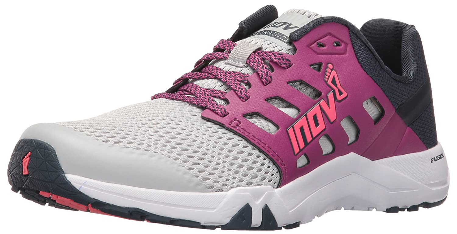 Inov-8 Women's All Train 215 Cross-Trainer Shoe B01G50NSJI 7 D US|Light Grey/Purple/Navy