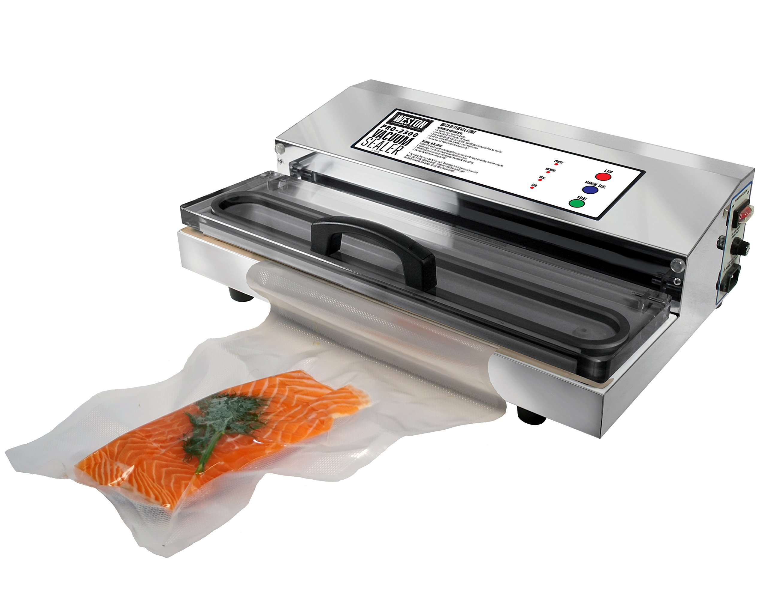 Weston Pro-2300 Commercial Grade Stainless Steel Vacuum Sealer (65-0201), Double Piston Pump by Weston (Image #8)