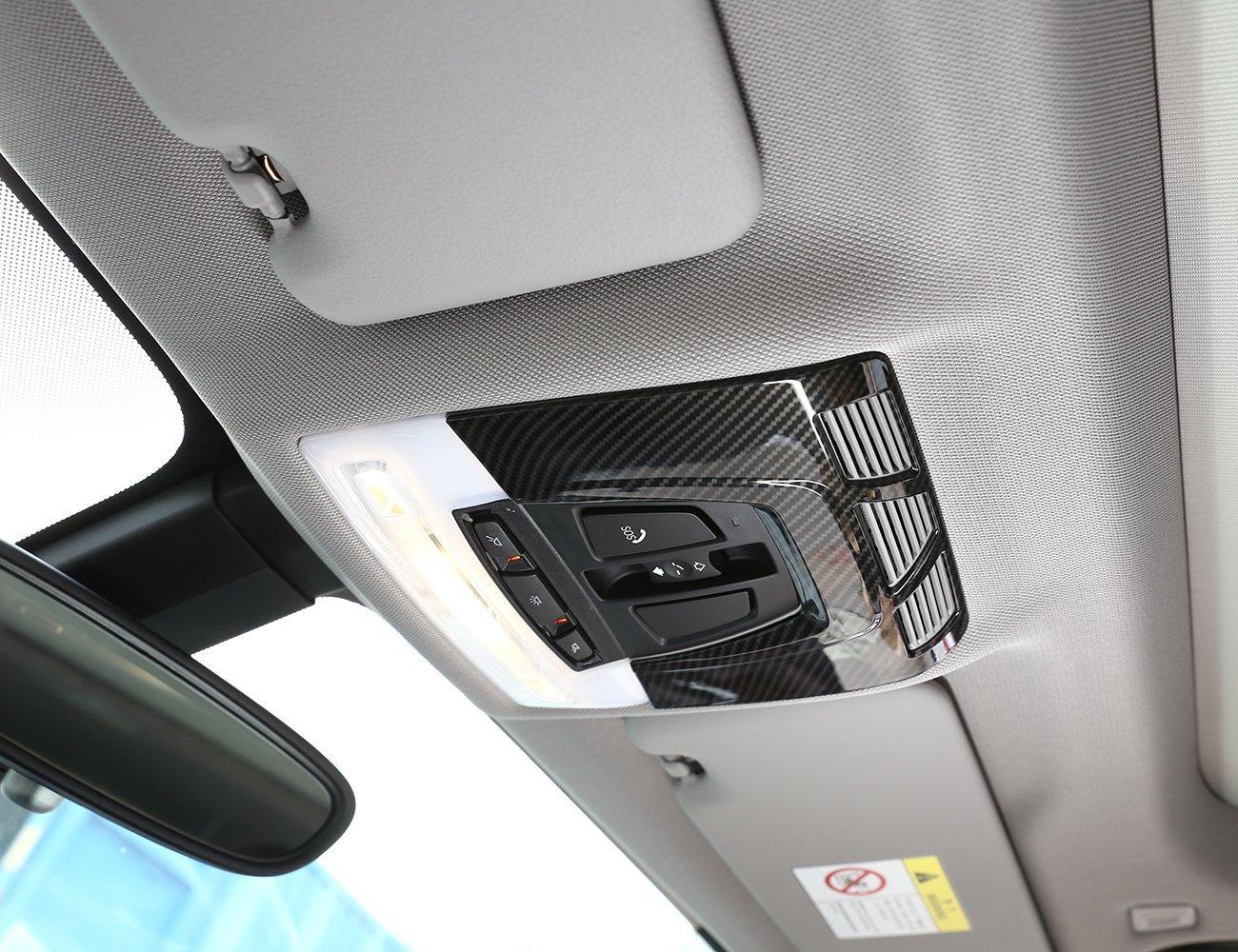 Innenraum-Rahmenaufkleber aus ABS//Chrom f/ür Leselampe in BMWs