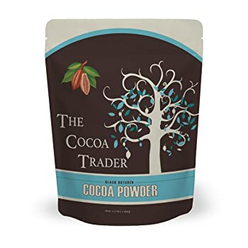 The Cocoa Trader Black All Natural Unsweetened Cocoa Powder for Baking