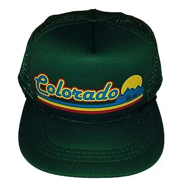 0acc2354 ... get toddler kids dark green colorado sunset snapback mesh trucker hat  cap 2aee7 e4a49