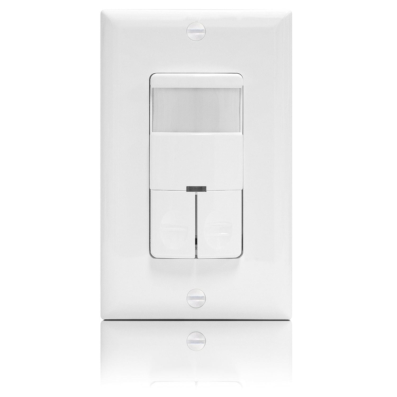 Enerlites Occupancy Motion Sensor Dual Load Non-Neutral Light & Fan Switch 883951412685