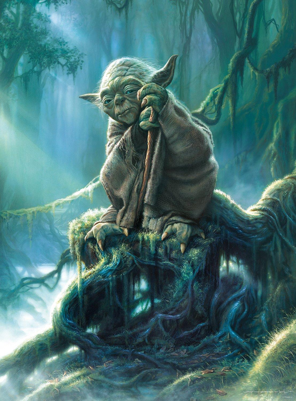 Buffalo Games Star Wars - Fine Art Collection - Yoda - 1000 Piece Jigsaw Puzzle