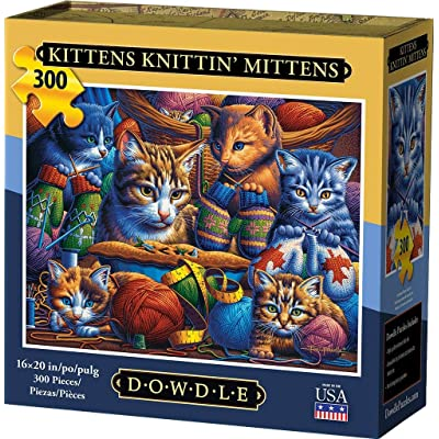Dowdle Jigsaw Puzzle - Kittens Knittin' Mittens - 300 Piece: Toys & Games