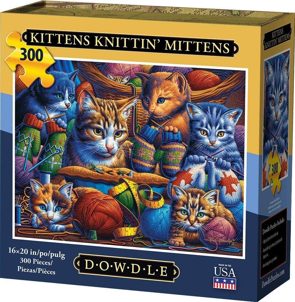 300 Piece Dowdle Jigsaw Puzzle Kittens Knittin Mittens