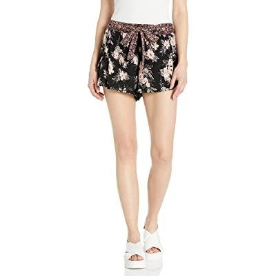 Angie Women's Floral Printed Short with Tie Waist: Clothing
