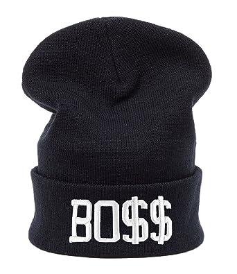 3e27b47a6dc pour Homme Femme surdimensionné Baggy 3D Bonnet d hiver Chaud Yolo Boss Go  Home Geek l argent Casquette de New York par Excellence - Noir -   Amazon.fr  ...