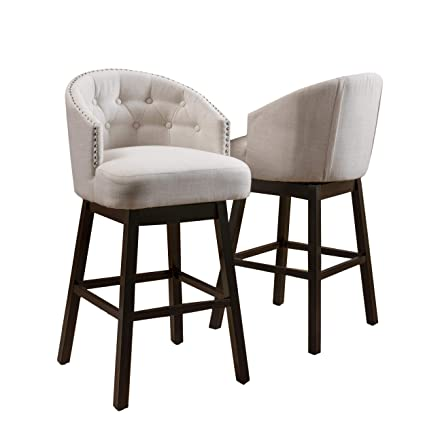 Amazoncom Great Deal Furniture Westman Swivel Bar Stools Full