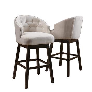 Amazon Com Great Deal Furniture Westman Swivel Bar Stools Full