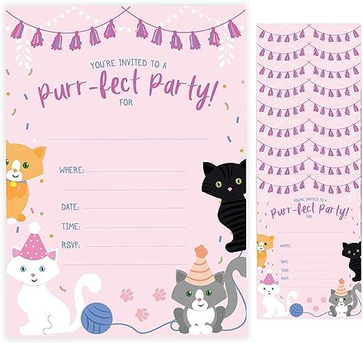 Amazon.com: Tarjetas de invitación de cumpleaños con diseño ...