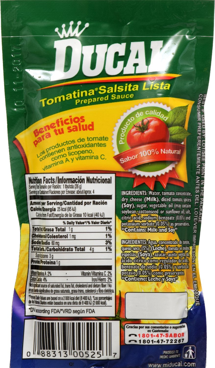 Amazon.com : Ducal Tomatina with Cheese Pouch, 3.7 Ounce (Pack of 24) : Grocery & Gourmet Food