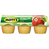 Mott's, Applesauce Unsweetened, 4 Oz, Pack of 6