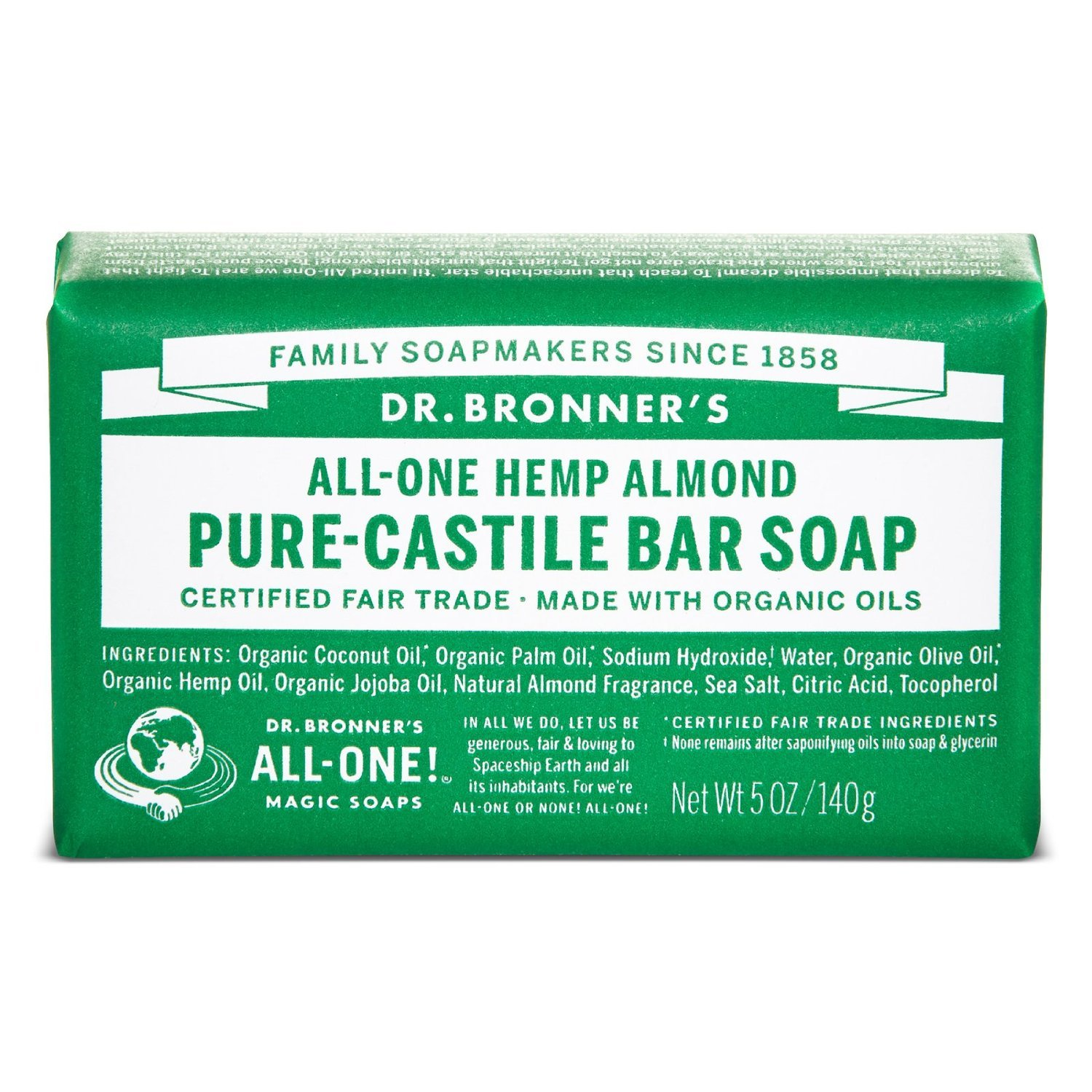 Dr Bronners Magic Soap All One Obal05 5 Oz Almond Dr. Bronner'S Bar Soap by Dr. Bronner's