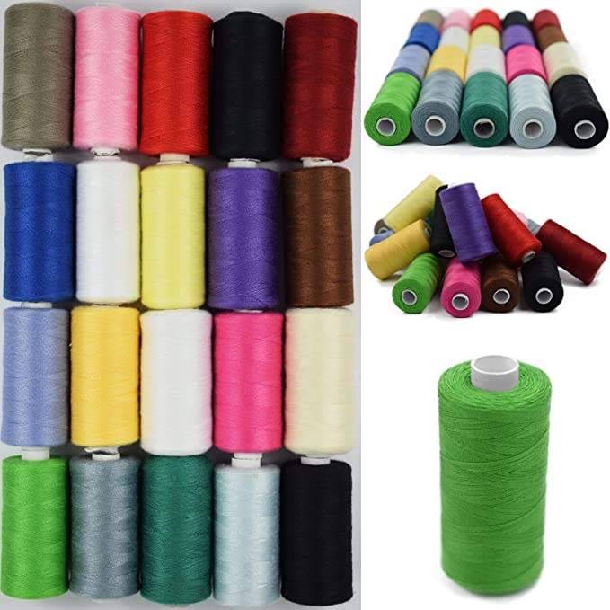 zuf/ällige Farbe OULII N/ähgarn 30pcs F/äden n/ähen Thread Set Polyester-Garn Spulen Saiten N/ähen Quilten