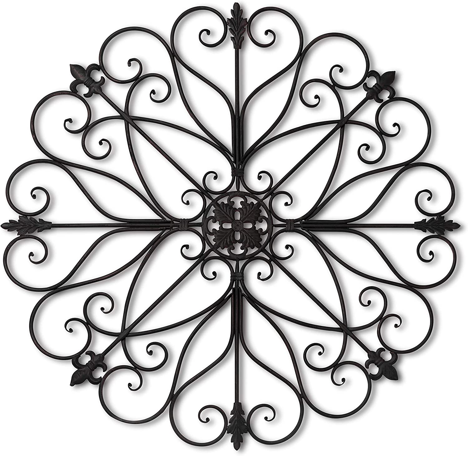 "T.Y. Cooper Wrought Iron 36"" Round Wall Decor"
