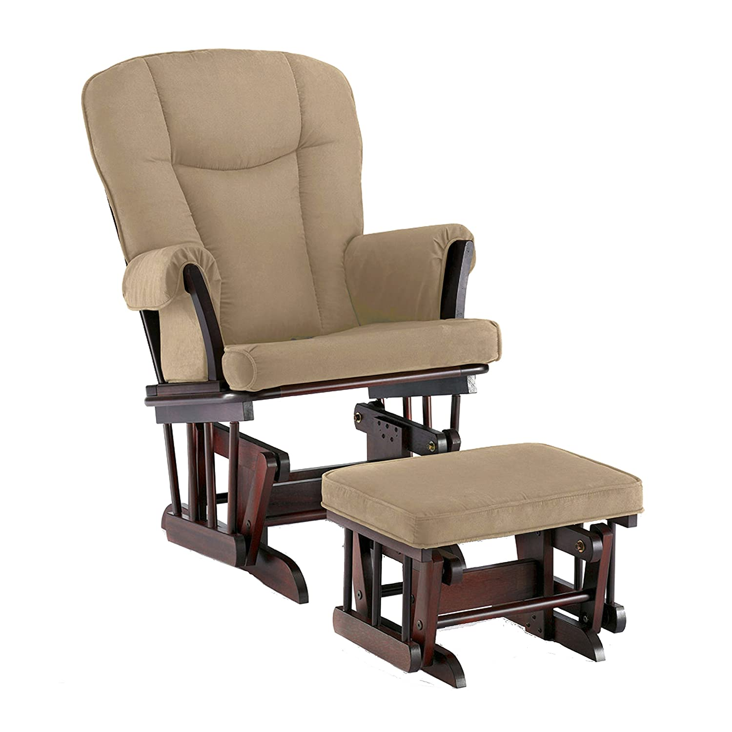 Amazon.com Shermag Stanton Transitional Style Glider Rocker and Ottoman Cherry with Pearl Beige Baby  sc 1 st  Amazon.com & Amazon.com: Shermag Stanton Transitional Style Glider Rocker and ... islam-shia.org