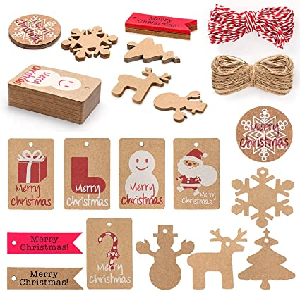"GIFT TAGS FOR SCRAPBOOK PAGES 5 LARGE /""CHRISTMAS/"" GINGERBREAD HOUSE HANG 71"