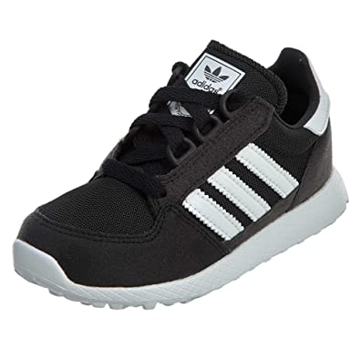 newest 95c9c 74e70 adidas Originals Unisex Forest Grove C Running Shoe, White Black, 1 M US