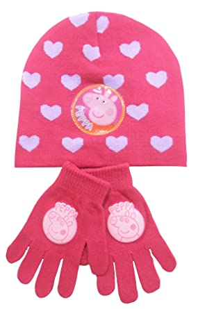 4480368e377 Image Unavailable. Image not available for. Colour  Peppa Pig Hat and  Mittens ...