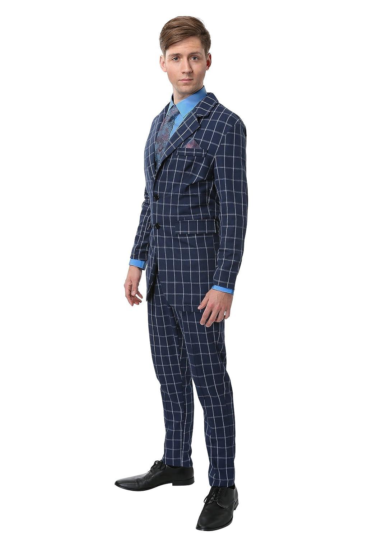 XXL Hannibal Lecter Plus Size Fancy Dress Costume Suit bluee