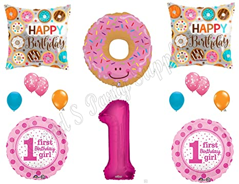 Amazon DONUT GROW UP 1st Birthday Party Balloons Decoration Supplies First Sweet Shop Everything Else