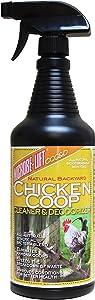 Chicken Coop Spray, Coop Cleaner & Deodorizer – Odor Control & Smell Eliminator, Healthy Pen Disinfectant, Nesting & Bedding Refresher, Chicken Coop Accessories, Flock Safe Cleaning Supplies, 32 Fl Oz