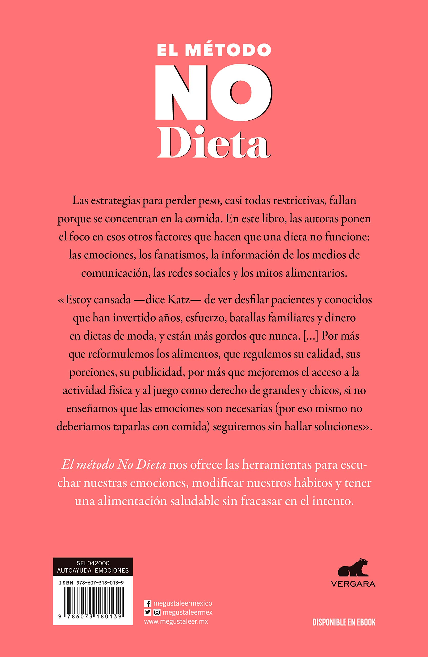 metodo no diet libro monica katz