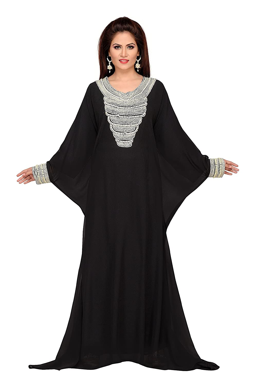 fc0352aaaab1 Bedis UAE Style Arabic Islamic Kaftan Abaya Farasha WOMEN'SMAXI Muslim  Dress Jilbab Long Dress - ONE Size: Amazon.co.uk: Clothing