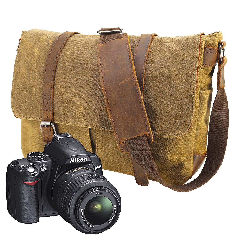 ac5c01fb5e59a Neue Version-Gute Qualität--90 Tage Garantie- Vintage Wasserdicht  Kameratasche Aktentasche herausnehmbar