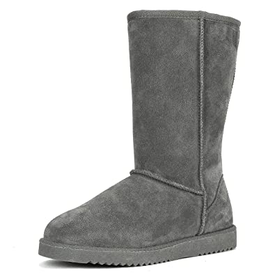 8c85d7ba0 DREAM PAIRS Women s Shorty-HIGH Grey Knee High Winter Snow Boots Size 5 ...