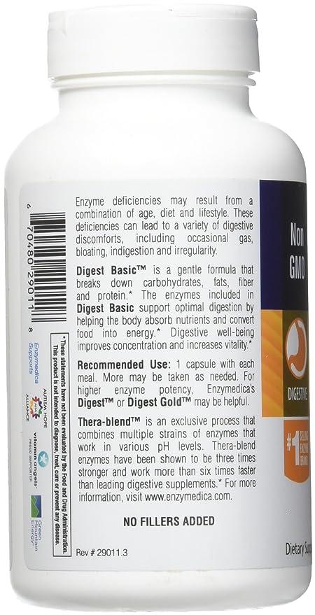 Compendio Básico, Esencial Fórmula Enzima, 180 cápsulas - Enzymedica