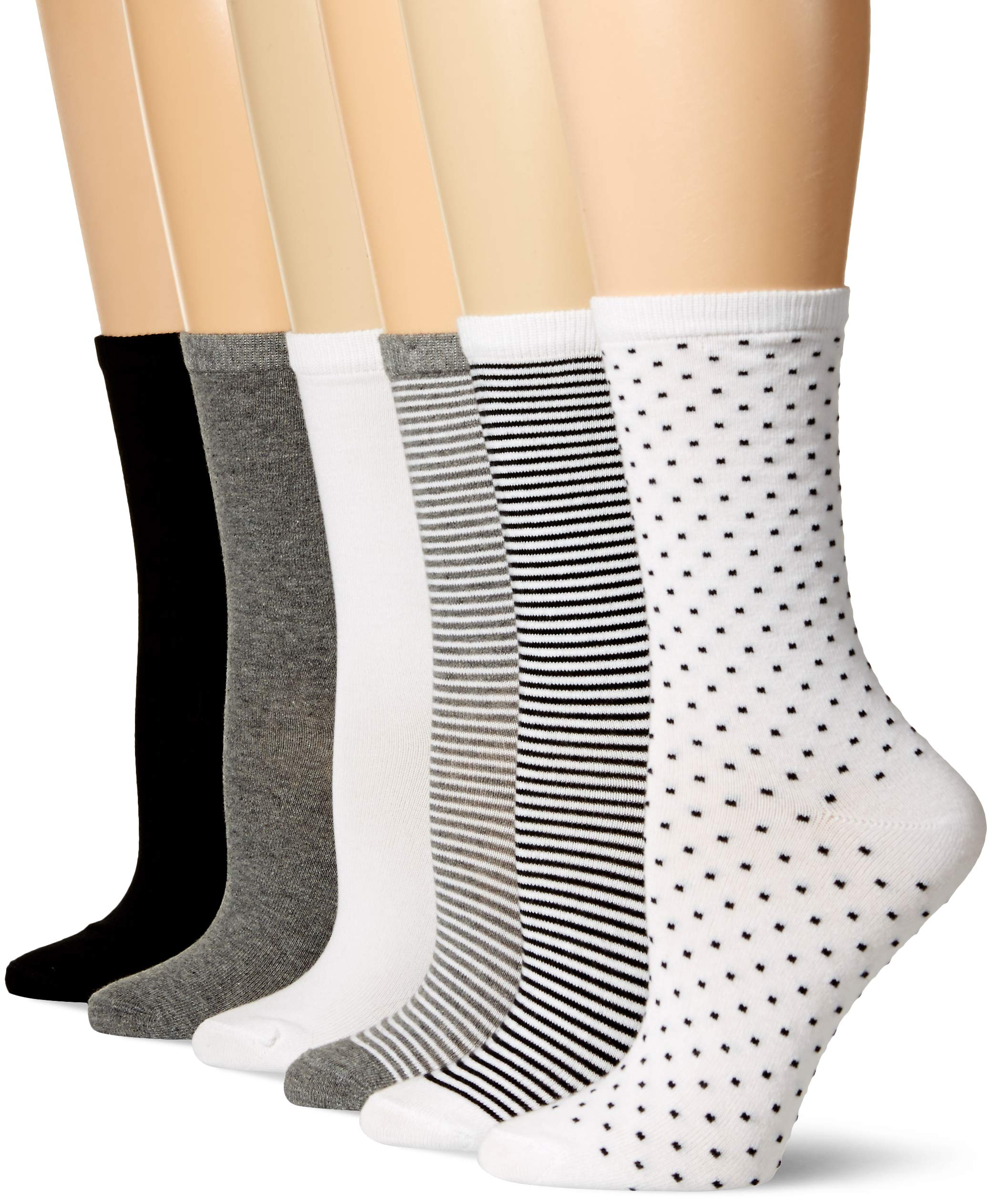 Amazon Essentials Women's 6-Pack Casual Crew Sock