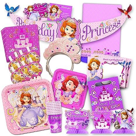 Amazon Disney Sofia The First Party Supplies Value Set