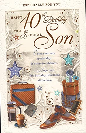 Happy 40th Birthday To A Special Son Card