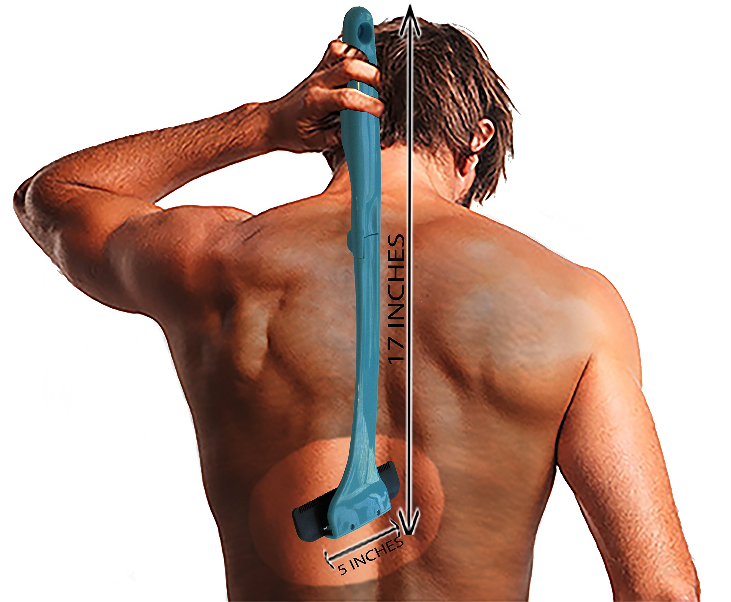 Back Shaver and Body Hair Removal for Men and Women. Handheld Do-it-Yourself Body Grooming Safety Razor Pain-Free Back Hair Removal